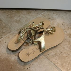 Gold Marc Fischer Sandals